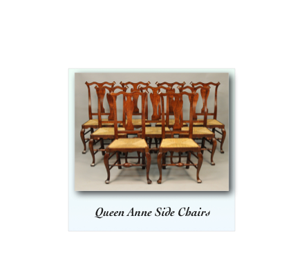 Queen Anne Chair Set Reproduction tiger maple walnut mahogany cherry