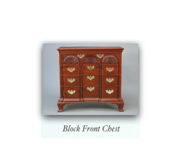 John Townsend Newport Block Front Chest handmade antique reproduction 18th century furniture and 19th century furniture