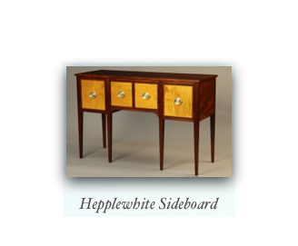 Custom Sideboard with Sheraton and Hepplewhite influences