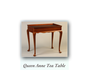 Colonial Tiger Maple Occassional tables