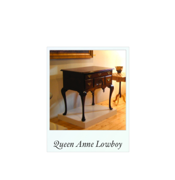 Queen Anne Lowboy dressing table Doucette and Wolfe furniture makers, Museum Quality Colonial reproduction furniture, reproduction furniture