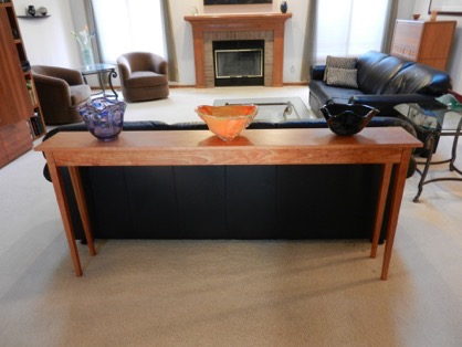 Client Photo and review for Doucette and Wolfe Furniture Makers